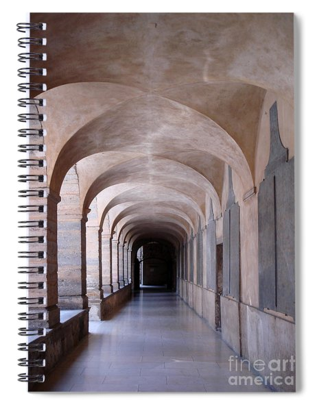 Cloister Archway Of The Hotel Dieu Hospital In Lyon Spiral Notebook