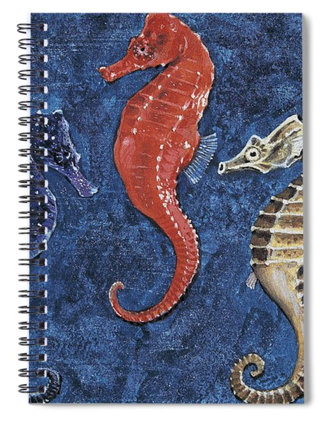 Close-up Of Five Seahorses Side By Side  Spiral Notebook