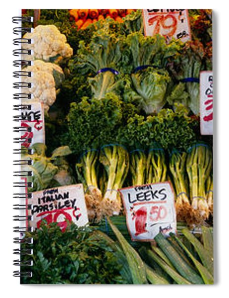Close-up Of Pike Place Market, Seattle Spiral Notebook