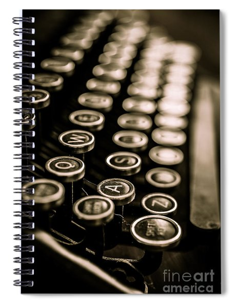 Close Up Vintage Typewriter Spiral Notebook