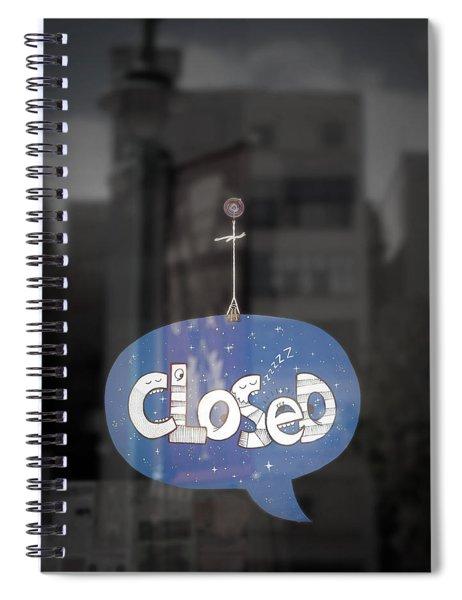 Closed Sleep Tight Spiral Notebook