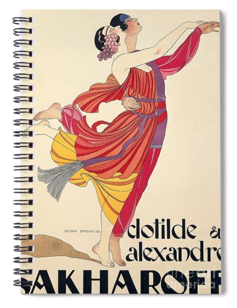 Clotilde And Alexandre Sakharoff Spiral Notebook