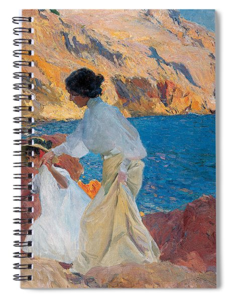 Clotilde And Elena On The Rocks Spiral Notebook