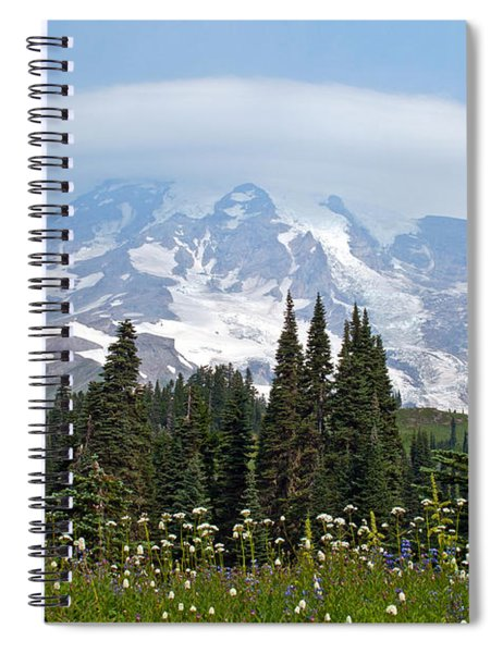 Cloud Capped Rainier Spiral Notebook