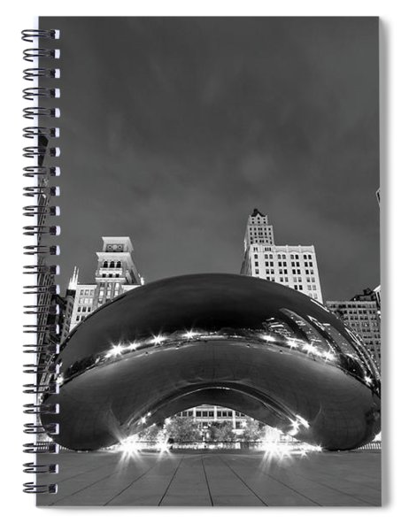 Cloud Gate And Skyline Spiral Notebook