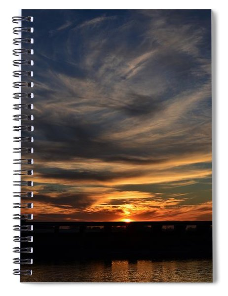 Cloud Swirl Sunset Spiral Notebook
