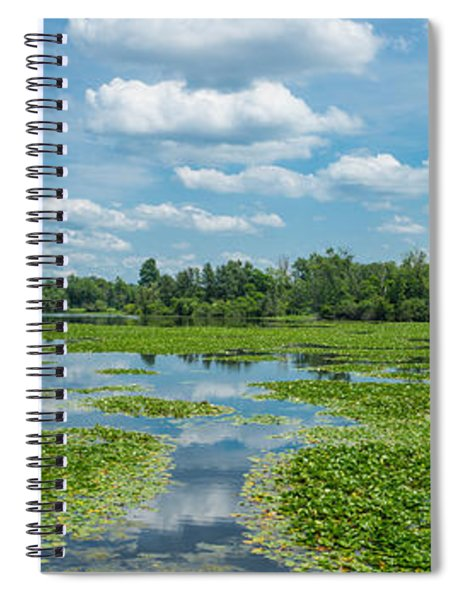 Clouds Over South Park Lake, South Spiral Notebook