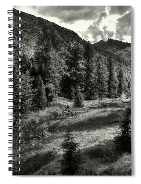 Clouds Over The Mountainscape Spiral Notebook