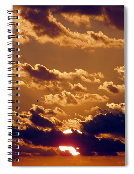Key West Cloudy Sunset Spiral Notebook