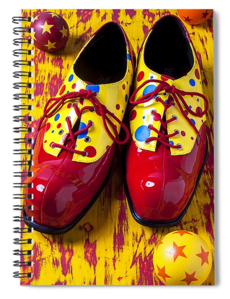 Clown Shoes And Balls Spiral Notebook