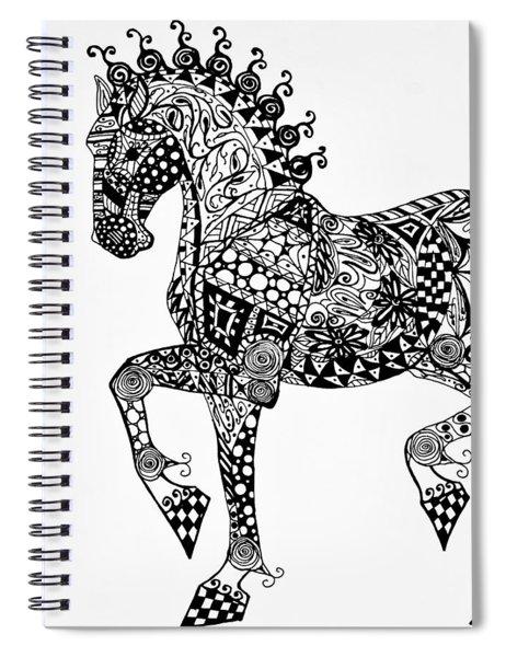 Clydesdale Foal - Zentangle Spiral Notebook