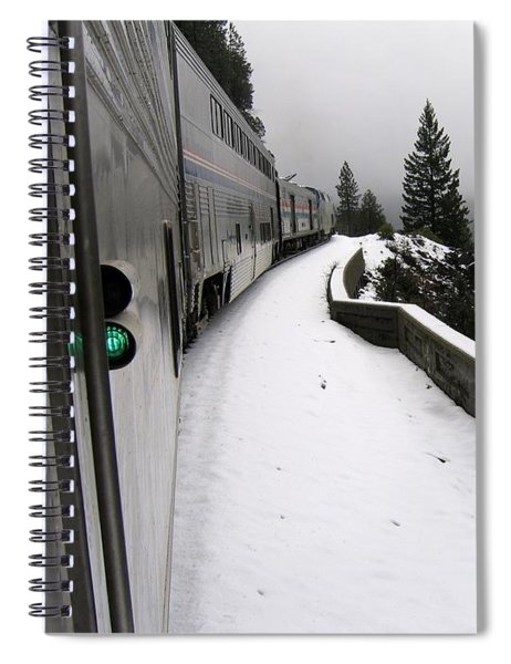 Coast Starlight In The Mountains Spiral Notebook