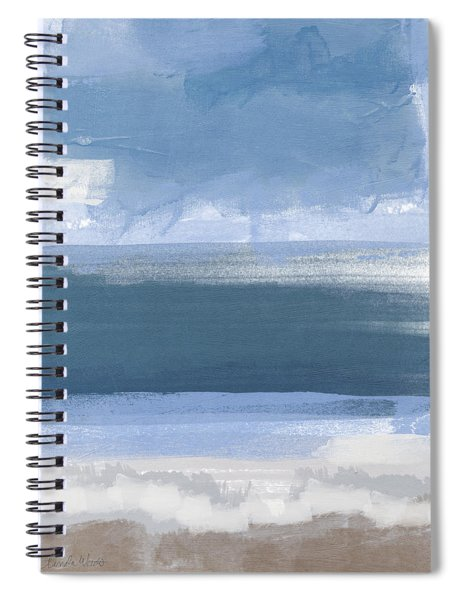 Coastal- Abstract Landscape Painting Spiral Notebook