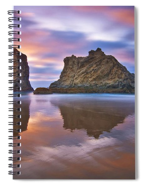 Coastal Cloud Dance Spiral Notebook
