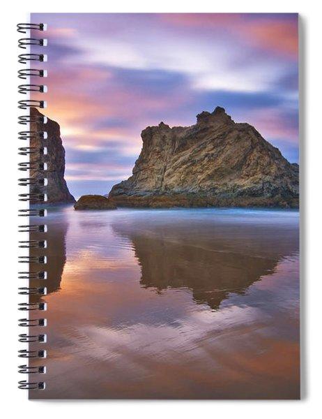 Coastal Cloud Dance Spiral Notebook