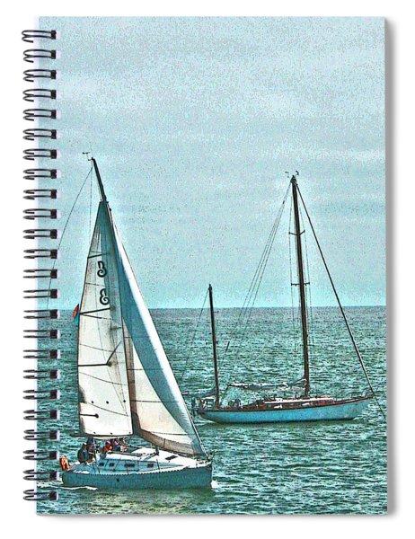 Coastal Sail Boats Spiral Notebook