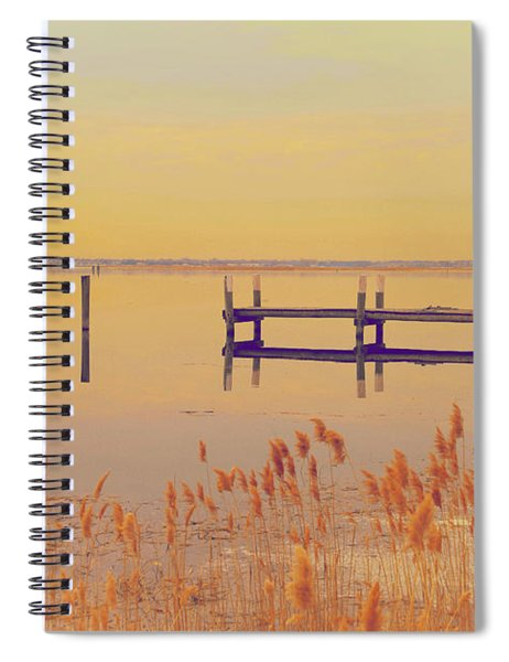 Coastal Winter Spiral Notebook
