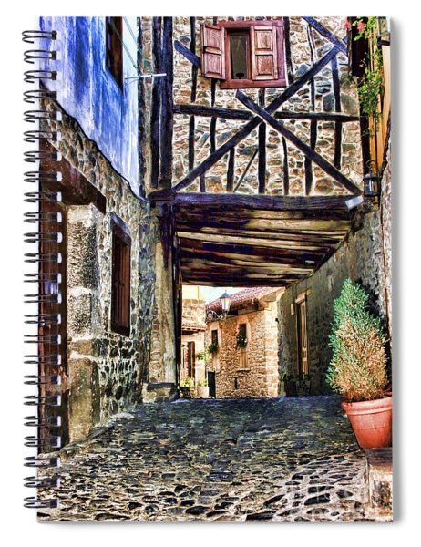 Cobble Streets Of Potes Spain By Diana Sainz Spiral Notebook