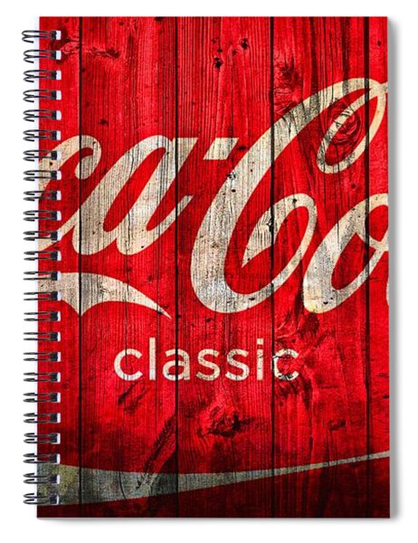 Coca Cola Barn Spiral Notebook