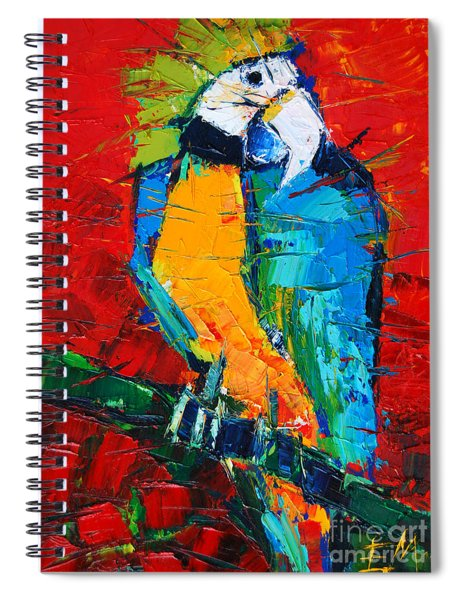 Coco The Talkative Parrot Spiral Notebook