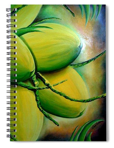 Coconut In Bloom Spiral Notebook