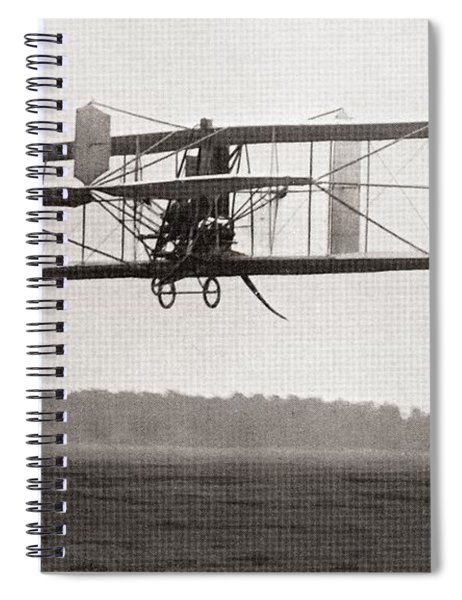 Codys Biplane In The Air In 1909 Spiral Notebook