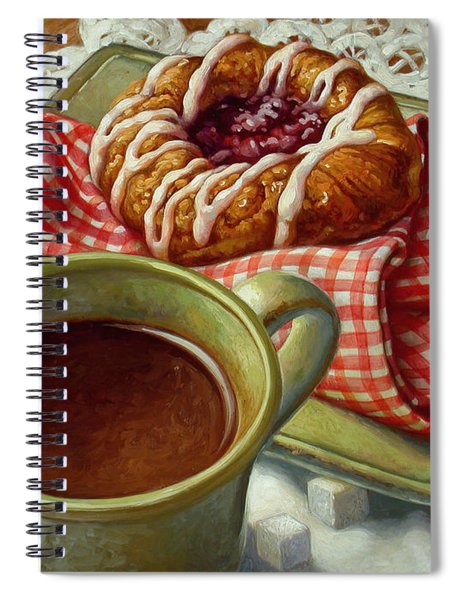 Coffee And Danish Spiral Notebook