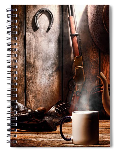 Coffee At The Cabin Spiral Notebook