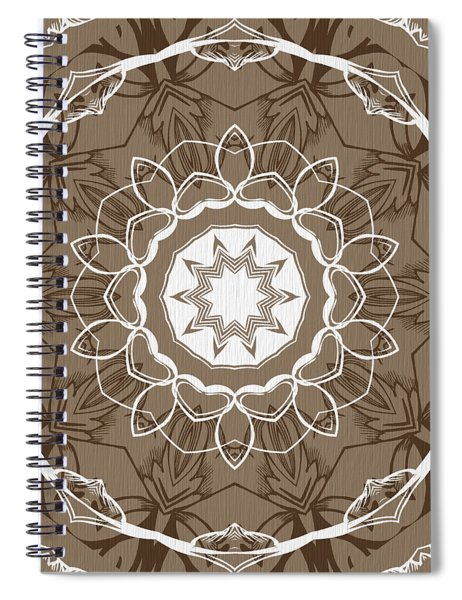 Coffee Flowers 1 Ornate Medallion Spiral Notebook
