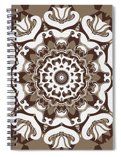 Coffee Flowers 10 Ornate Medallion Spiral Notebook