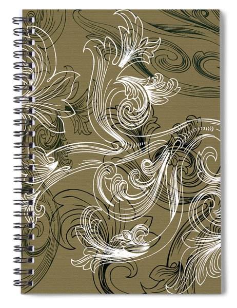 Coffee Flowers 2 Olive Spiral Notebook