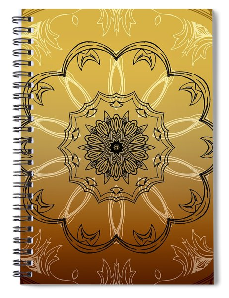 Coffee Flowers 3 Ornate Medallion Calypso Spiral Notebook