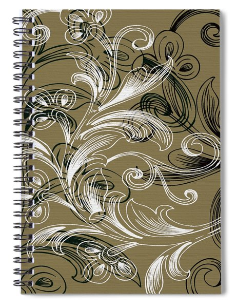 Coffee Flowers 4 Olive Spiral Notebook