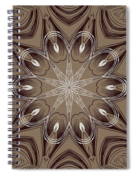 Coffee Flowers 4 Ornate Medallion Spiral Notebook