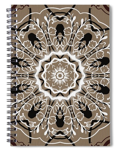 Coffee Flowers 5 Ornate Medallion Spiral Notebook