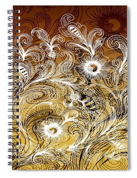 Coffee Flowers 6 Calypso Spiral Notebook