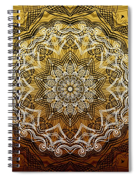 Coffee Flowers 6 Calypso Ornate Medallion Spiral Notebook