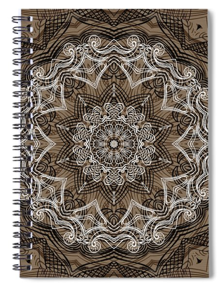 Coffee Flowers 6 Ornate Medallion Spiral Notebook