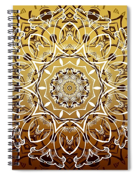 Coffee Flowers 7 Calypso Ornate Medallion Spiral Notebook