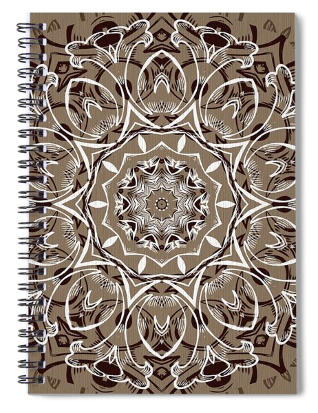 Coffee Flowers 7 Ornate Medallion Spiral Notebook