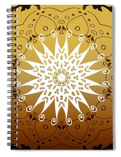 Coffee Flowers 9 Calpyso Ornate Medallion Spiral Notebook