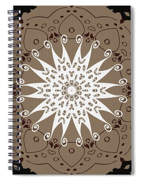 Coffee Flowers 9 Ornate Medallion Spiral Notebook