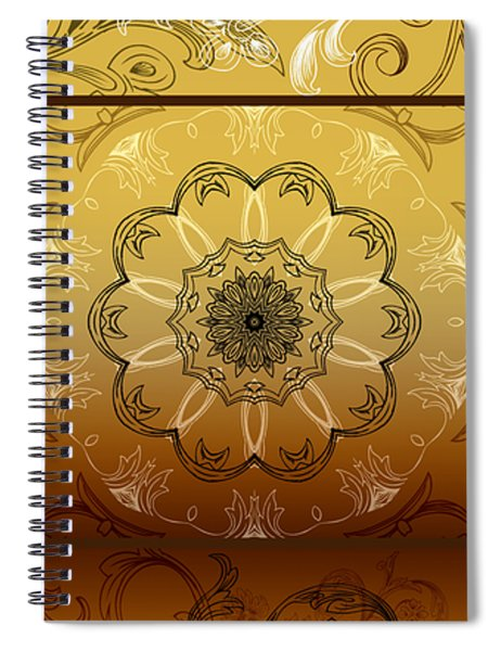 Coffee Flowers Calypso Triptych 4 Vertical Spiral Notebook