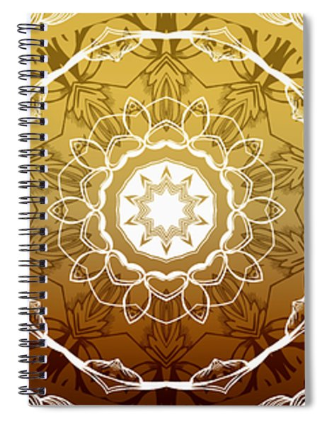 Coffee Flowers Medallion Calypso Triptych 1  Spiral Notebook