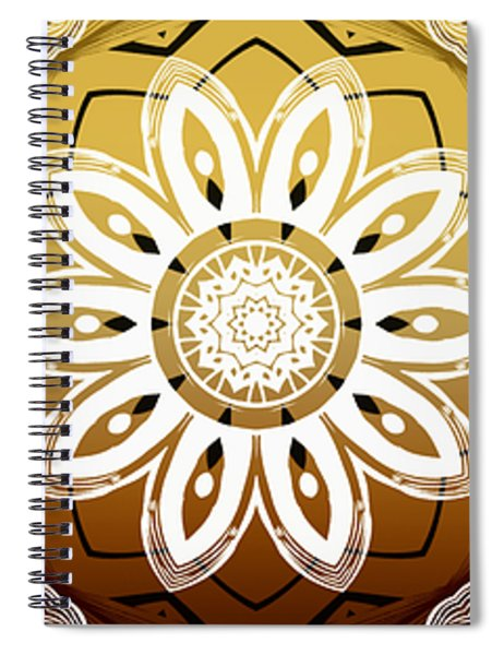 Coffee Flowers Medallion Calypso Triptych 2  Spiral Notebook