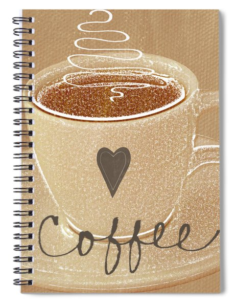 Coffee Love In Mocha Spiral Notebook
