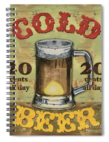 Cold Beer Spiral Notebook