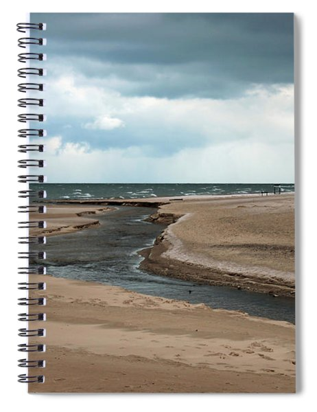 Cold Morning At The Beach Spiral Notebook