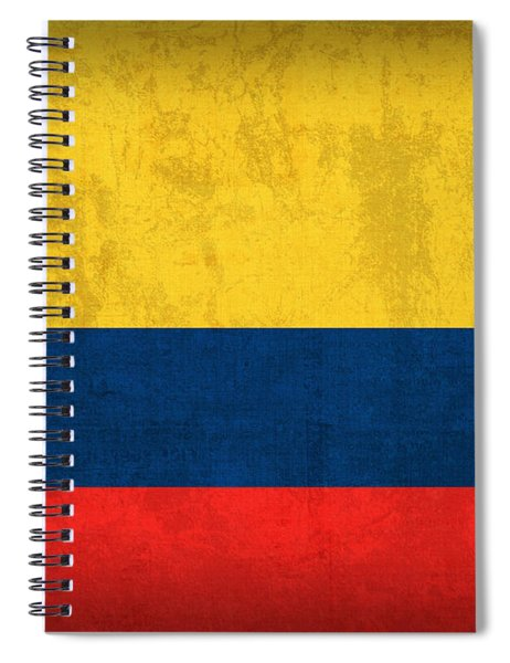 Colombia Flag Vintage Distressed Finish Spiral Notebook