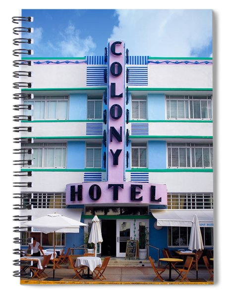 Colony Hotel Daytime Spiral Notebook